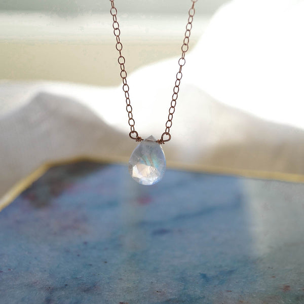 Moonstone Healing Jewel Necklace, Necklace, - Wander + Lust Jewelry