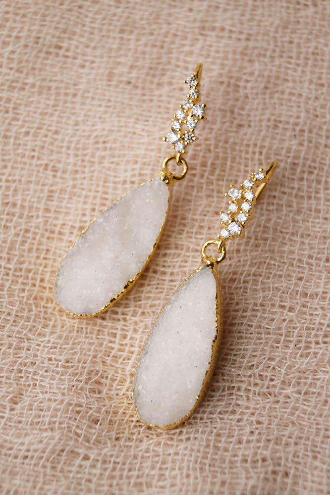 CHARLOTTE Druzy Earrings, Earrings, - Wander + Lust Jewelry