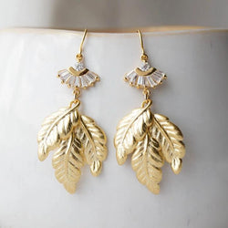 IVY Leaf Earrings, Earrings, - Wander + Lust Jewelry