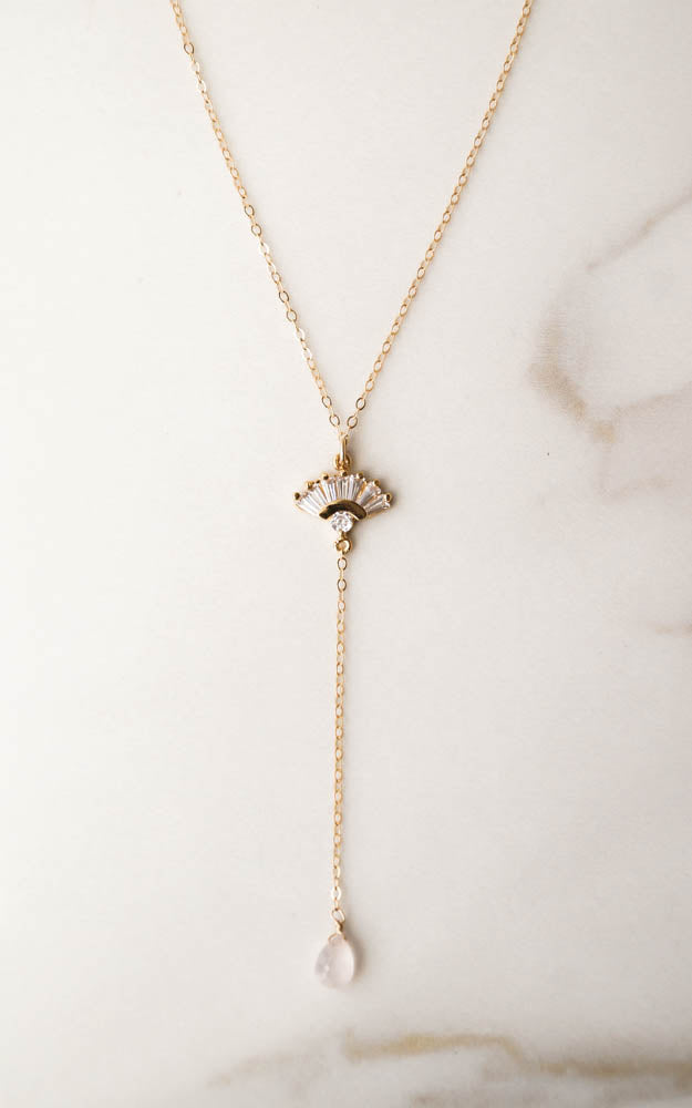 SCARLETT Drop Necklace, Necklace, - Wander + Lust Jewelry