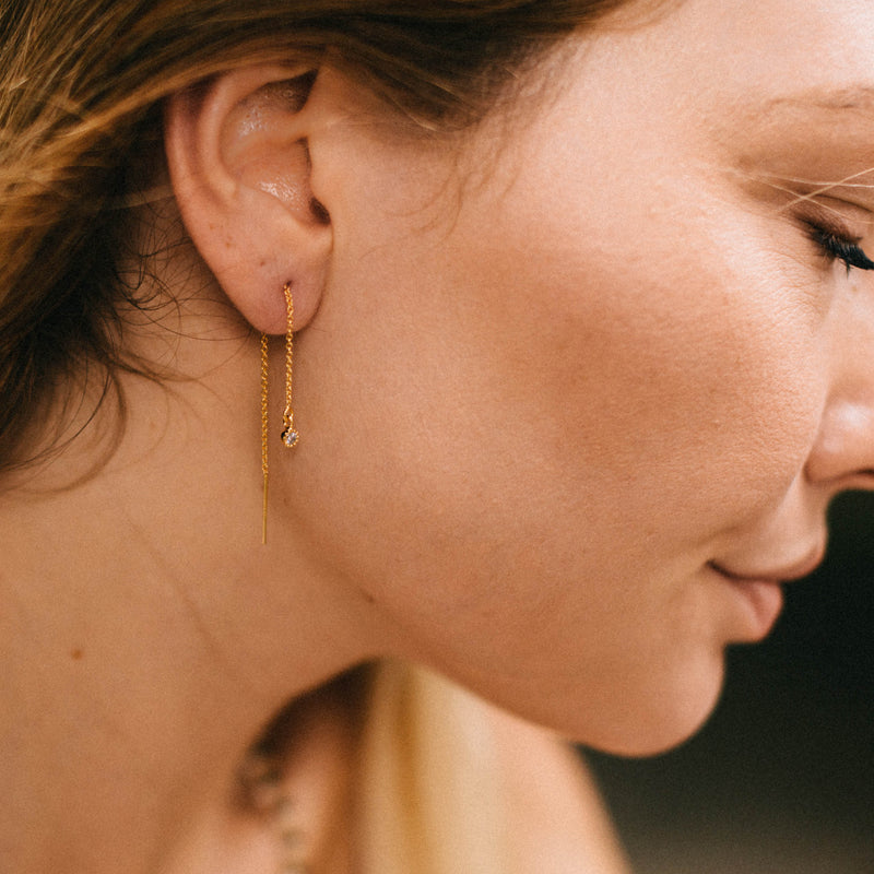 Tiny Star Threaders, Earrings, - Wander + Lust Jewelry