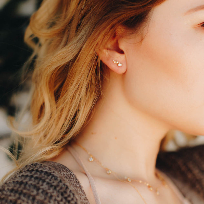 Lucida Tiny Studs, Earrings, - Wander + Lust Jewelry