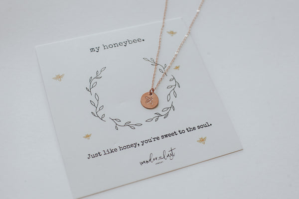 My Honeybee Necklace, Necklace, - Wander + Lust Jewelry