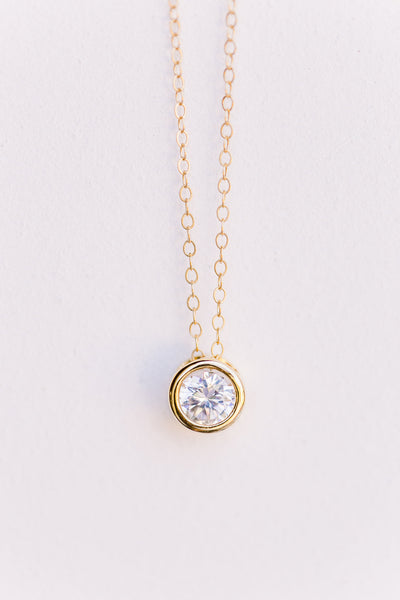 Floating Diamond Necklace, Necklace, - Wander + Lust Jewelry