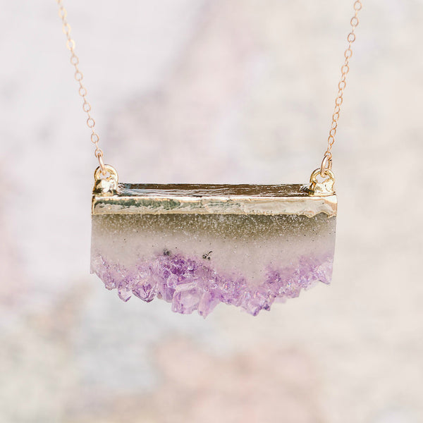 Amethyst Pendant Necklace, Necklace, - Wander + Lust Jewelry