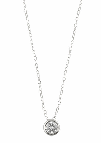 Floating Diamond Silver Necklace, Necklace, - Wander + Lust Jewelry