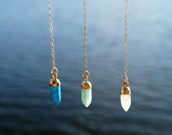Gemstone Y Necklace, Necklace, - Wander + Lust Jewelry