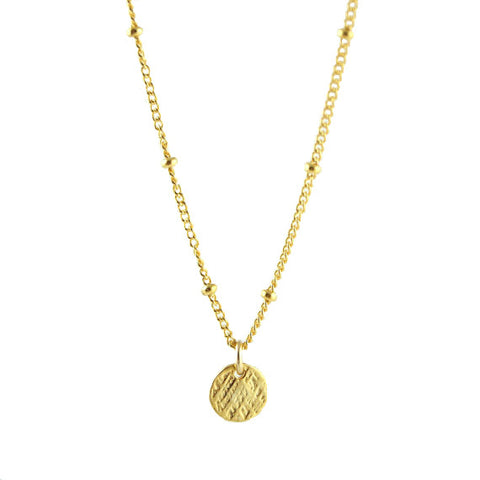 Gold Coin Necklace - Wander + Lust Jewelry  - 1