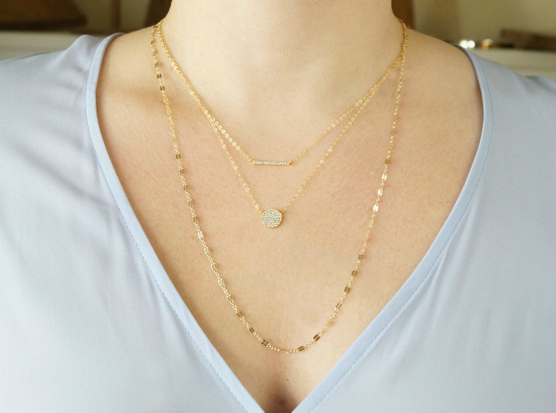 Gold Layered Necklace Set, Layered Necklace, - Wander + Lust Jewelry