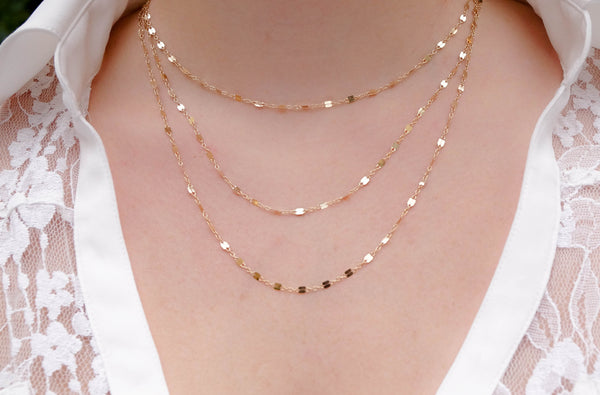 Dainty Triple Layer Necklace - Wander + Lust Jewelry  - 2
