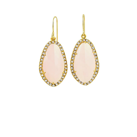 Ice Pink Earrings, Earrings, - Wander + Lust Jewelry
