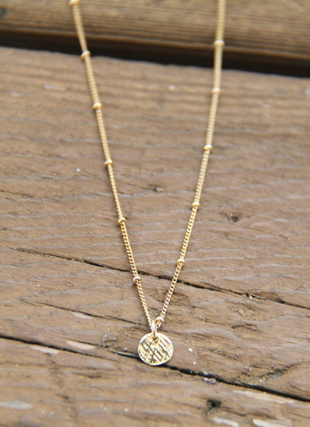 Gold Coin Necklace - Wander + Lust Jewelry  - 3