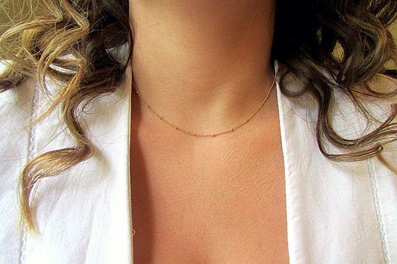 Gold Satellite Chain Necklace, Necklace, - Wander + Lust Jewelry