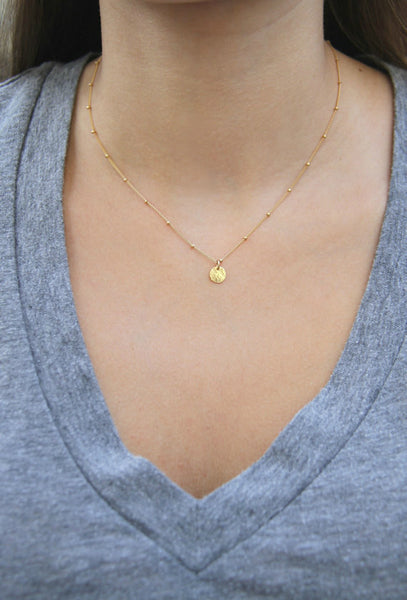 Gold Coin Necklace - Wander + Lust Jewelry  - 2