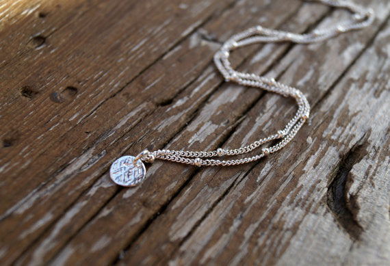 Silver Coin Necklace, Necklace, - Wander + Lust Jewelry