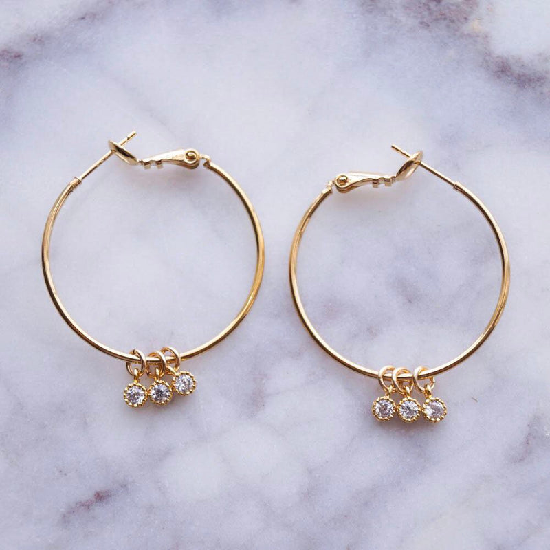 Simple Love Hoops, Earrings, - Wander + Lust Jewelry