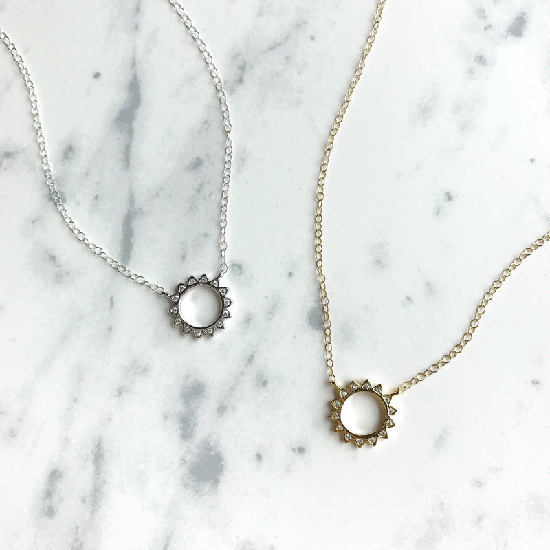 Total Eclipse Necklace, Necklace, - Wander + Lust Jewelry