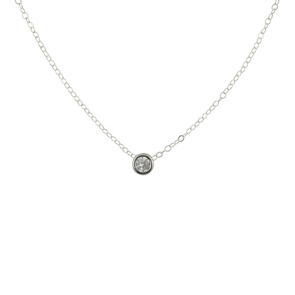 Silver CZ Necklace, Necklace, - Wander + Lust Jewelry