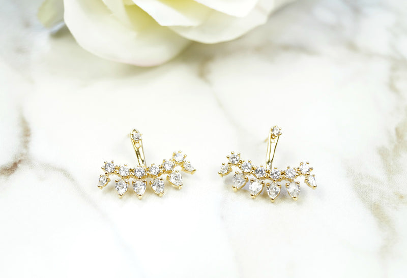 CZ Spike Earrings, Earrings, - Wander + Lust Jewelry