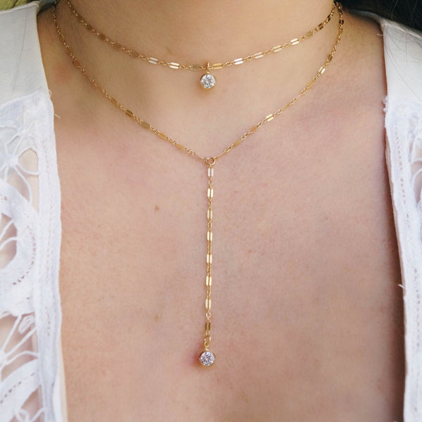 The Olivia Y Necklace Set, Layered Necklace, - Wander + Lust Jewelry