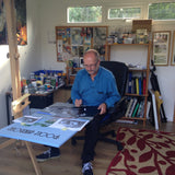 Richard Watkin in his studio