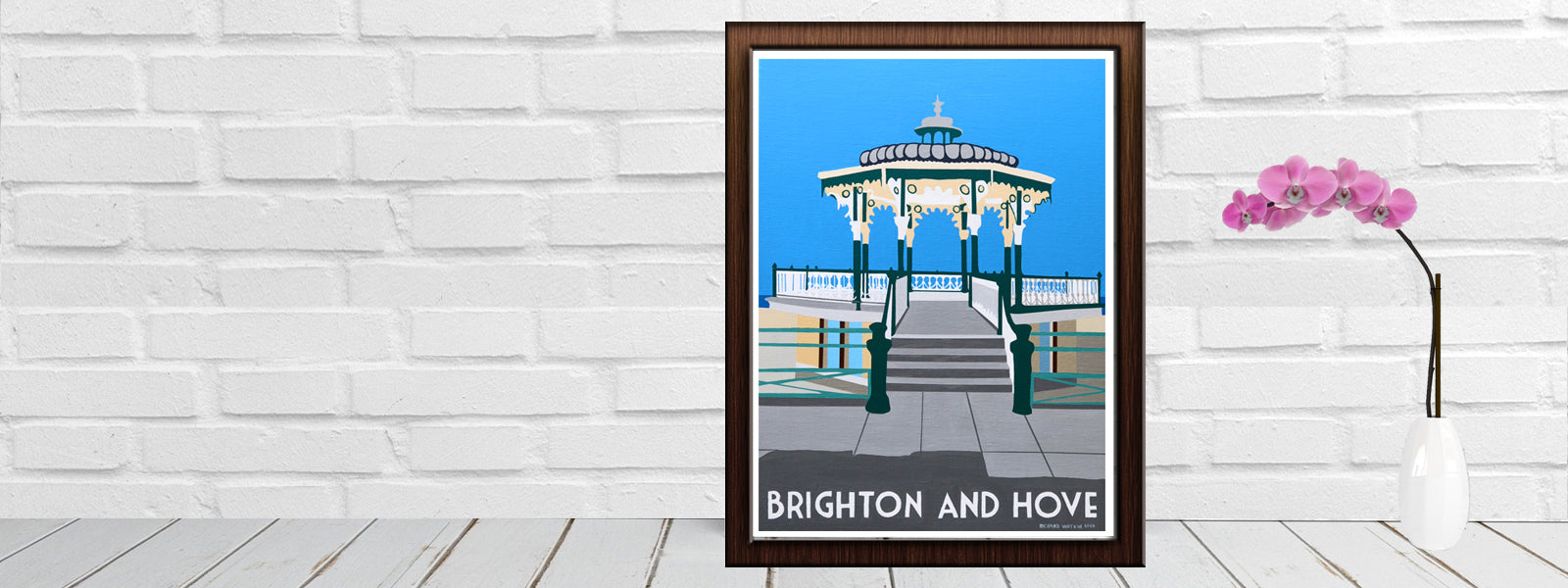 Brighton and Hove Bandstand Sussex New Print