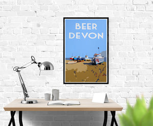 Vintage style Devon prints and posters