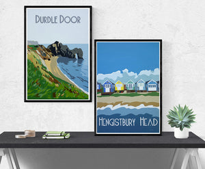 Vintage style Dorset prints and posters