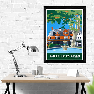 Ashley Cross Green Poole Dorset Print