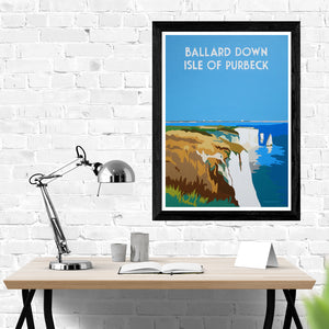 Ballard Down Isle of Purbeck Print