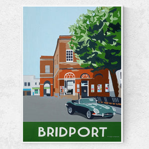 Bridport Dorset with E-Type Jaguar print