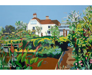 Charleston House  and Garden Sussex Print