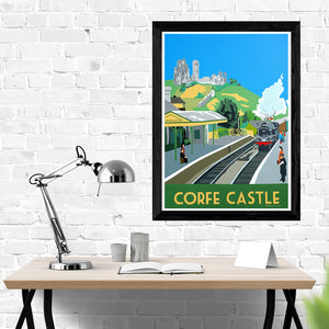 Dorset Swanage Railway at Corfe Castle Station Print
