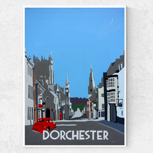 Dorset County Town Dorchester with red MGY print