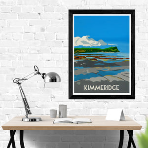 Dorset Kimmeridge Rock Pools and Fossils print