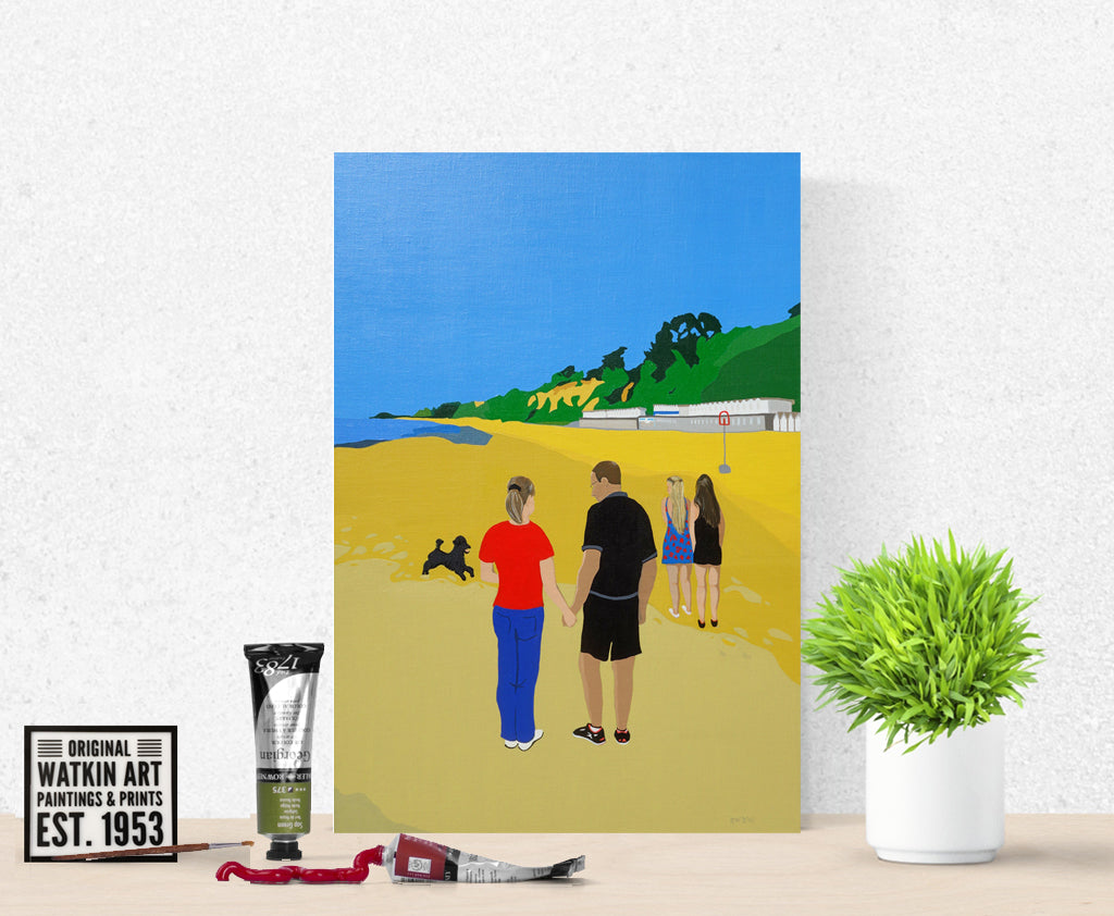 Family on Beach Commission