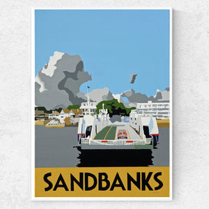 Dorset Poole Sandbanks Ferry Crossing to Studland Print