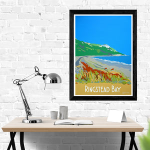 Dorset Ringstead Bay near Osmington and White Nothe print