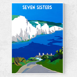 Sussex Seven Sisters near Newhaven print