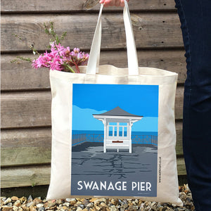 Swanage Pier Dorset Tote Bag