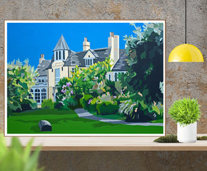 Dorset Studland Pig on the Beach Hotel Print