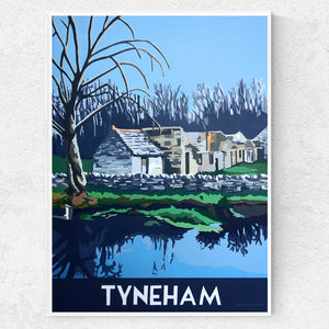 Dorset  Tyneham Village Winter Print
