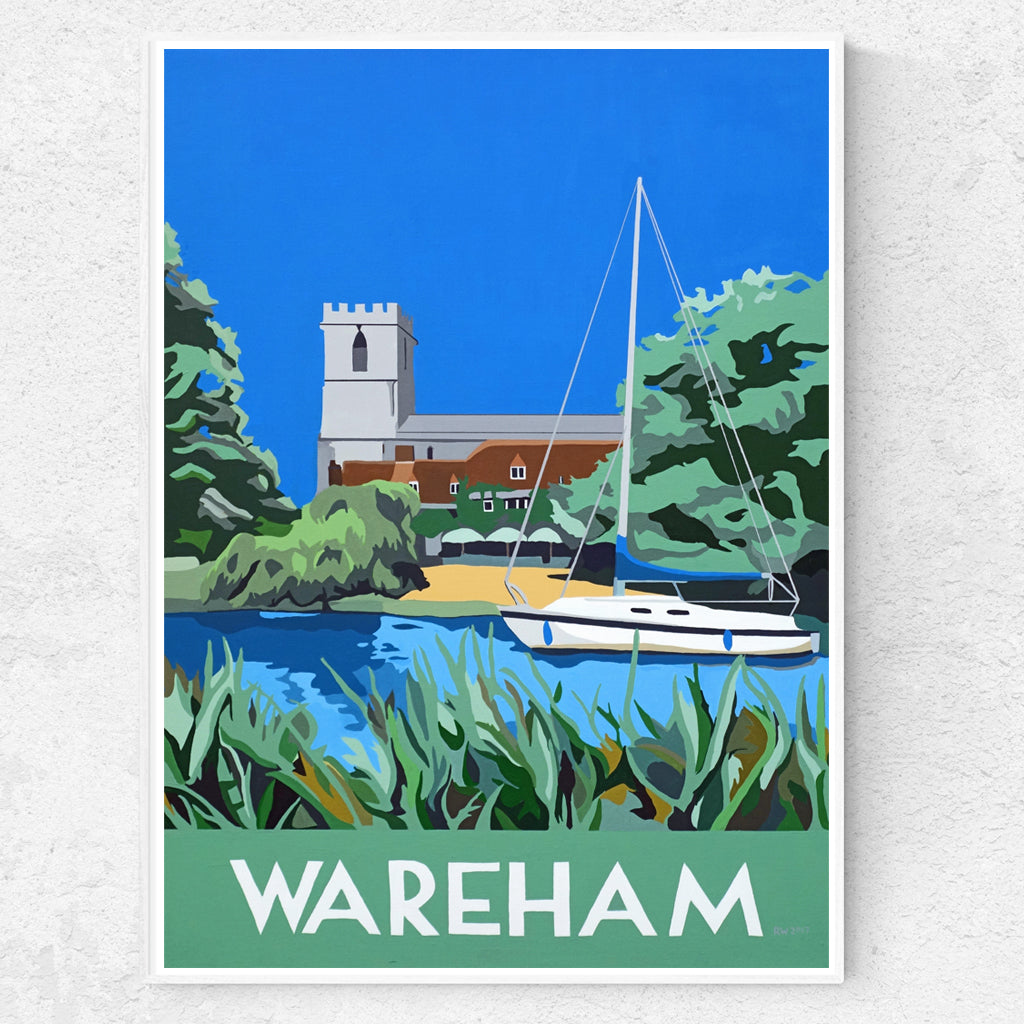 Dorset Wareham Quay The Priory Church  Print