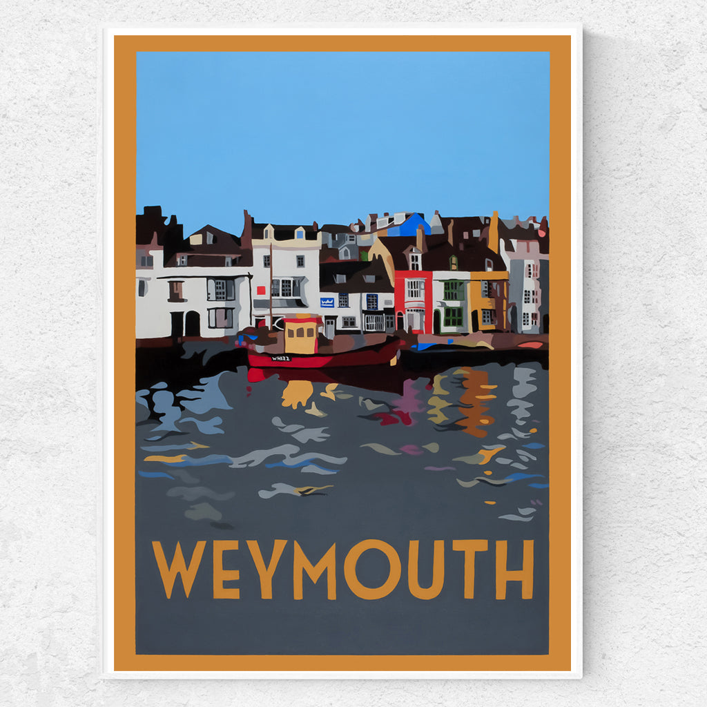 Dorset Weymouth Quayside with Trawler  Print