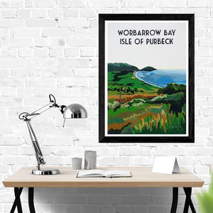 Dorset Jurassic Coast Isle of Purbeck Worbarrow Bay Print