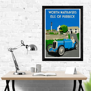 Dorset Worth Matravers Square and Compass Pub MGQ Type Print