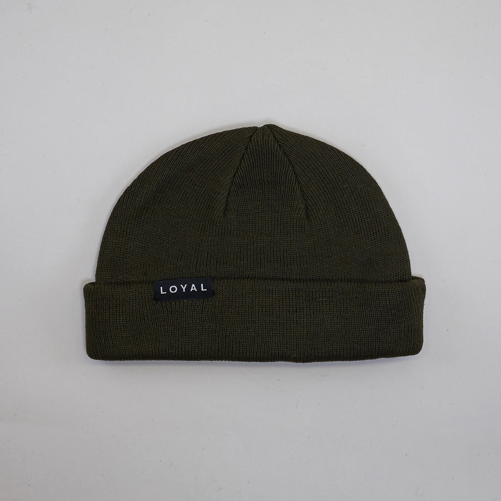FISHERMAN BEANIE - DARK OLIVE