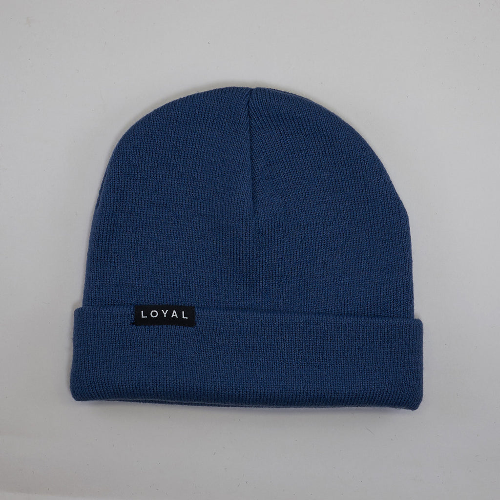FITTED WINTER HAT - BLUE