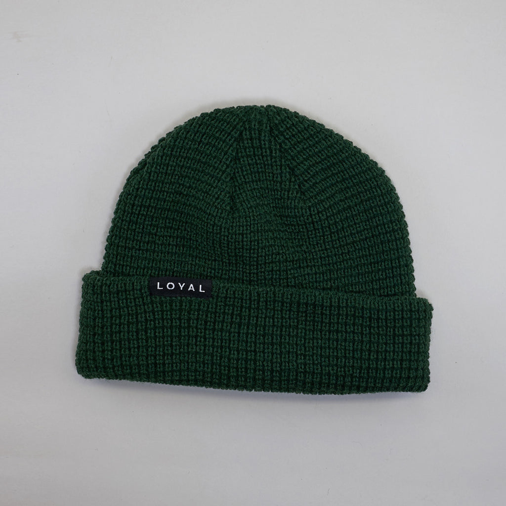 FITTED WAFFLE HAT - HUNTER