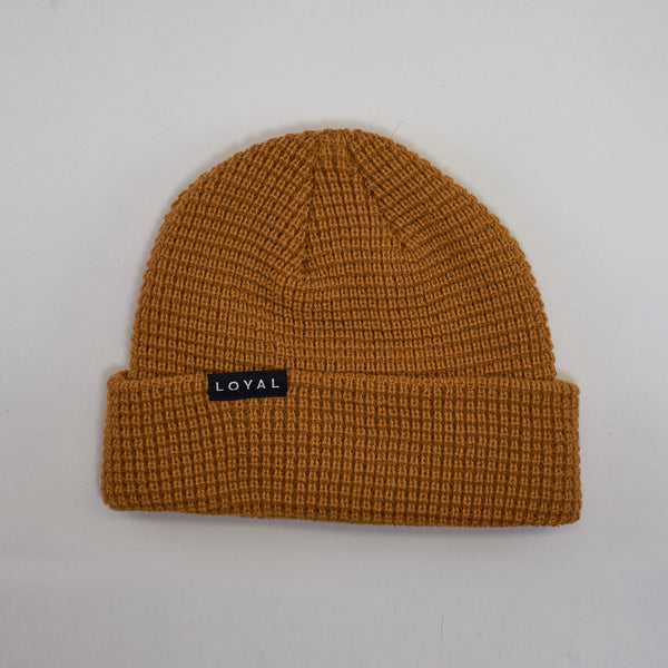 FITTED WAFFLE HAT - GOLDENROD